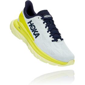 Hoka One One Mach 4 Shoes Men, blue flower/citrus